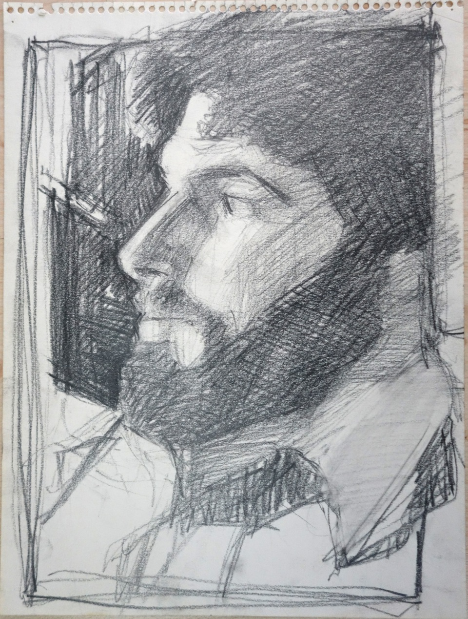 Miles Jaffe, drawing by Stacey Lewis