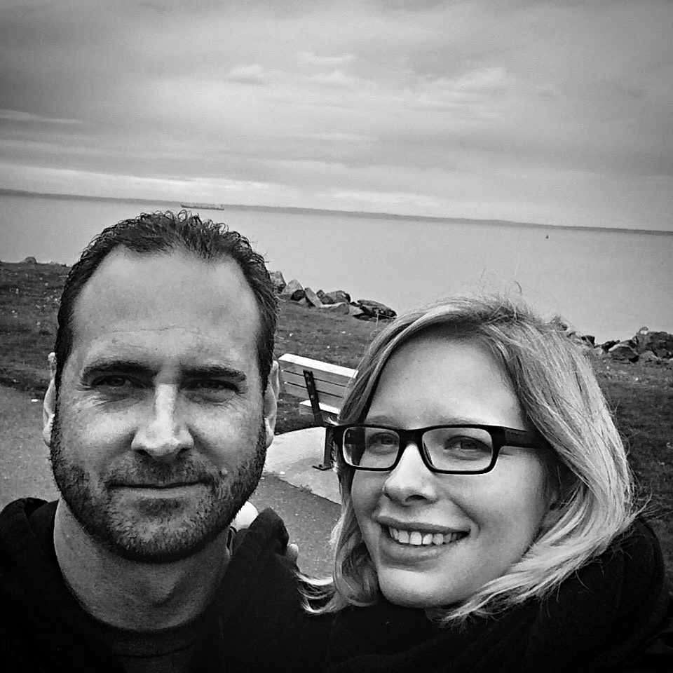 Together with my favorite person and partner in all things, Mari Johann -photo taken from our travels. Bellingham, WA