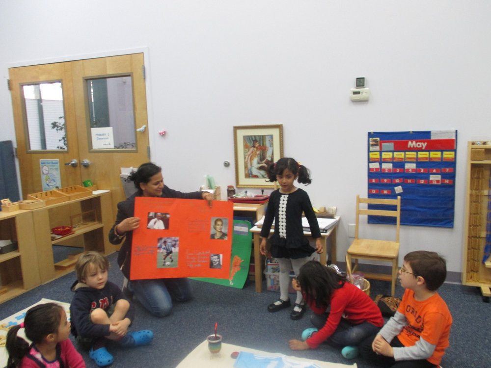 A young Primary 1 student shared a wonderful presentation about Argentina with her class. She confidently shared her knowledge about the country and presented it to her classmates with minimal help from her mom.