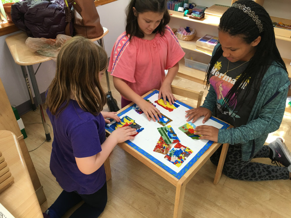 The Upper Elementary students were excited to work on their class project for the Waterfront School Foundation Gala.  They brainstormed about what would be an ideal theme to design for their table and chair.