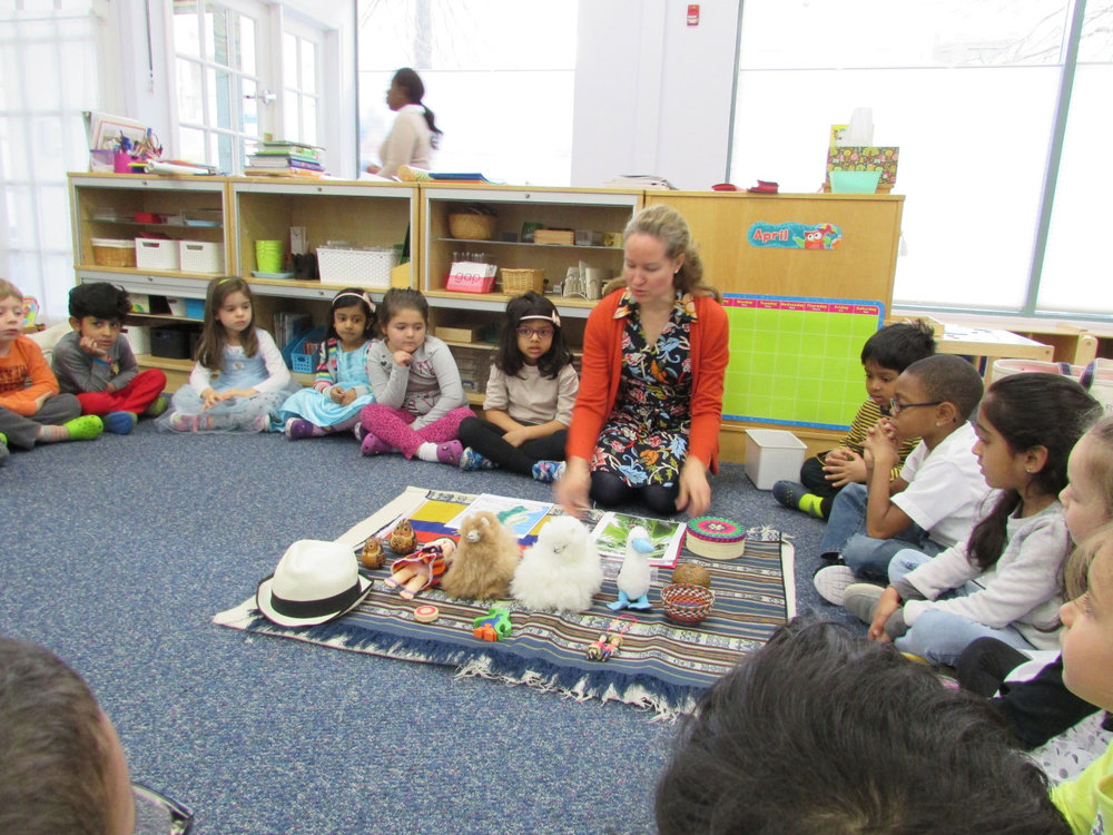 Ms. Rose shared a presentation about her native country of Ecuador with the Primary 3 students.  They learned where chocolate comes from and held real cocoa beans. They also learned about animals in the region.