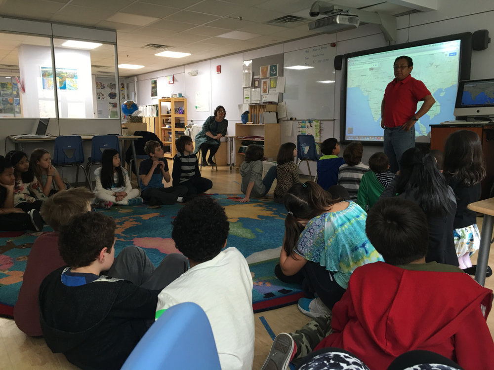 The Upper Elementary students enjoyed a presentation from Pastor Pau, a friend of Mr. Gregg, who visited the class from his country of Myanmar.  The students asked him various questions about the currency, religion, population, food and lifestyle of the country.