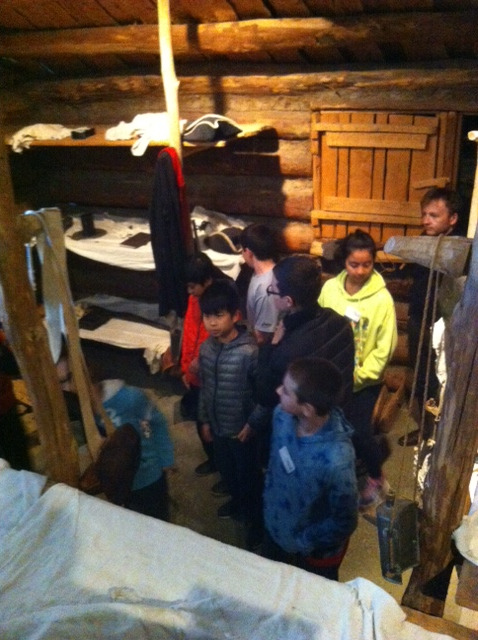 On their field trip to Jockey Hollow, near Morristown, the Middle School students explored a model cabin that Revolutionary War soldiers would have lived in.