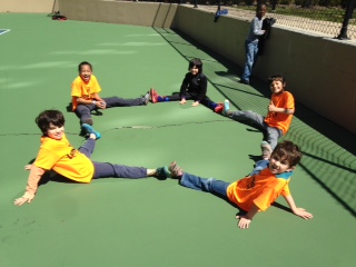 The Lower Elementary West students enjoyed Geometry on the playground!
