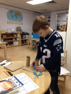 After he conducted research about satellites, a Lower Elementary West student chose to build his own satellite.