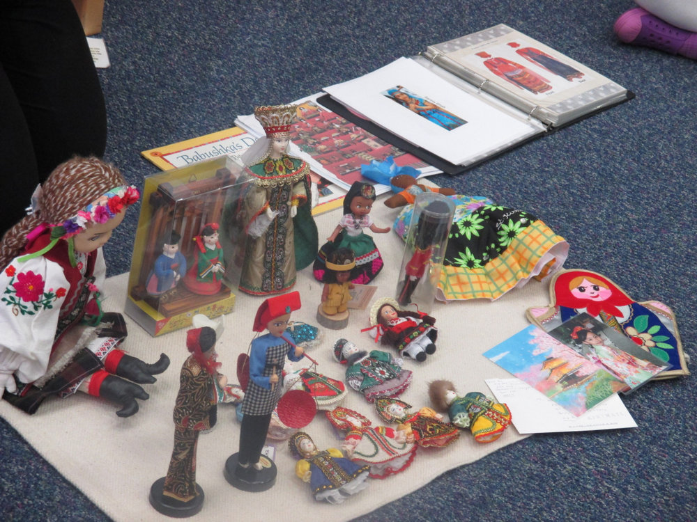 The Primary 1 class enjoyed a wonderful presentation about the Japanese Doll Festival called Hina Matsuri, during which people celebrate the happiness and health of girls.  Ms. Nanuli brought her collection of dolls from different counties and shared some stories about them.  She also read a book to the class called  Babushka's Doll , and the class discussed different points of the story.