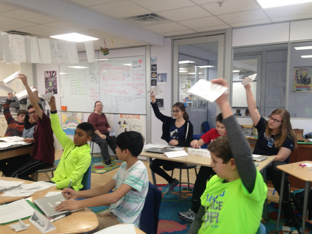 The Middle School students used this short week to prepare for Montessori Model United Nations by completing their country boards, practicing their speeches and participating in mock committees in the  Mock-a-mal . They also had opportunities to catch up on ongoing project work for each of their subject areas.