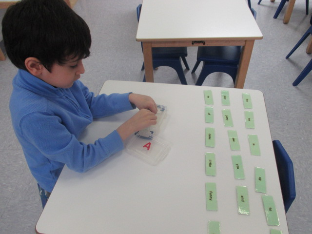 A Primary 1 student worked toward mastering a group of sight words.  Working with sight words is a continuous process, as these are the words that children have to memorize.