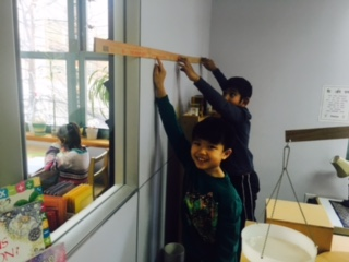 After learning about the history of measurement, the Lower Elementary West students measured their classroom and other things in it.