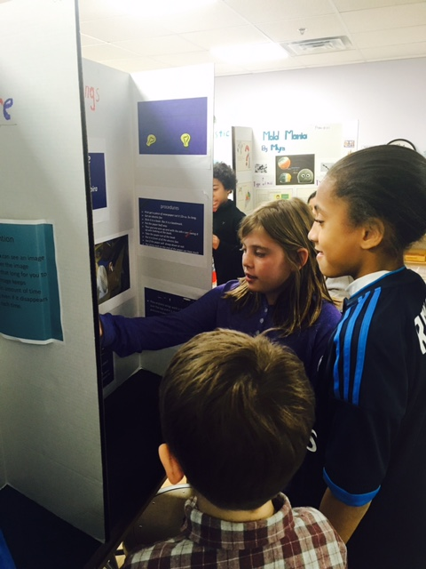 The Lower Elementary West class was excited to be invited to the Upper Elementary class for the Science Fair.