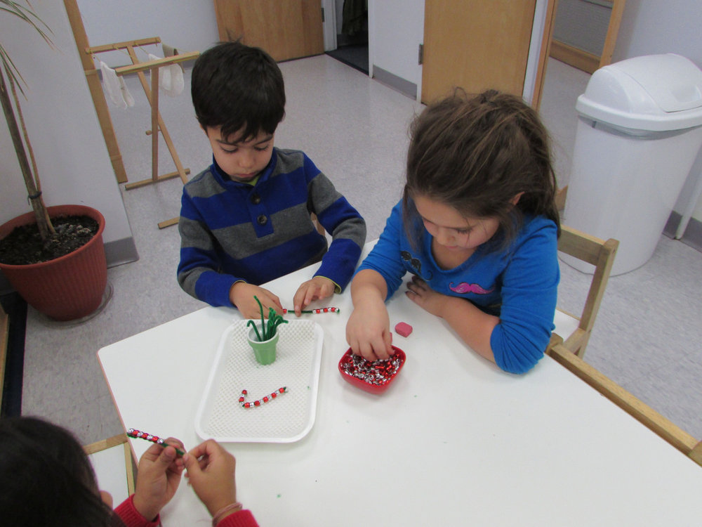 The Primary 3 Kindergarteners are given a lesson after which they are responsible for teaching to others.  They are truly proud and take this responsibility seriously as they present the work.  Younger friends in turn enjoy sitting with their older peers and learning from them.