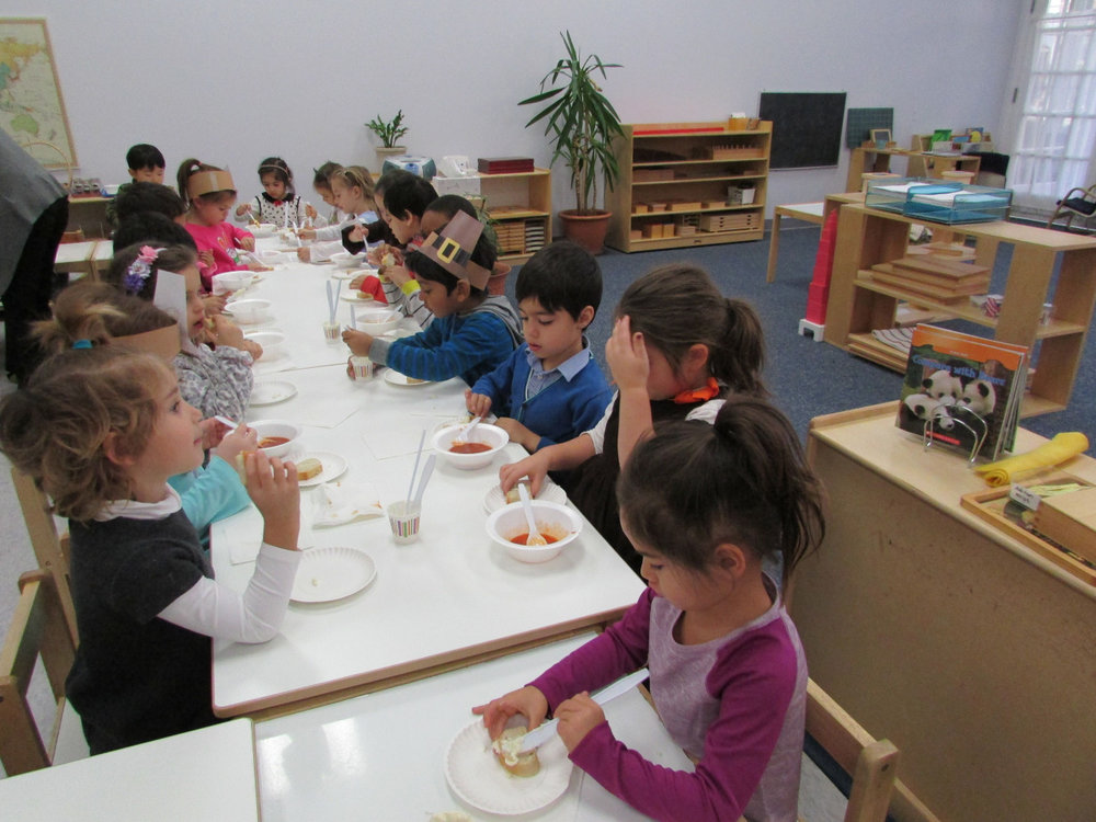 The Primary 3 students celebrated last week with a Thanksgiving feast.