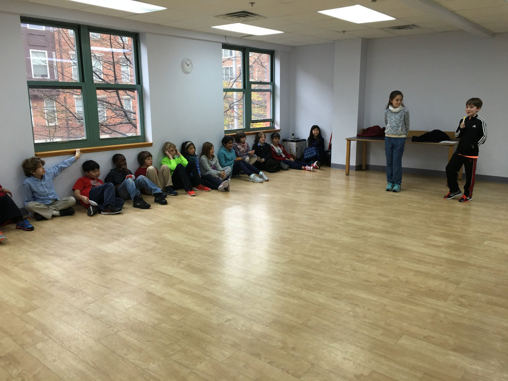 The Upper Elementary students rehearsed their poems for Poetry Night and practiced projecting their poems with the correct intonations and postures.