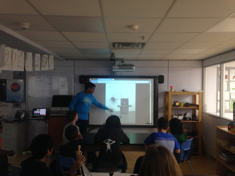 The Middle School students presented their Art vs. Design projects to their classmates.