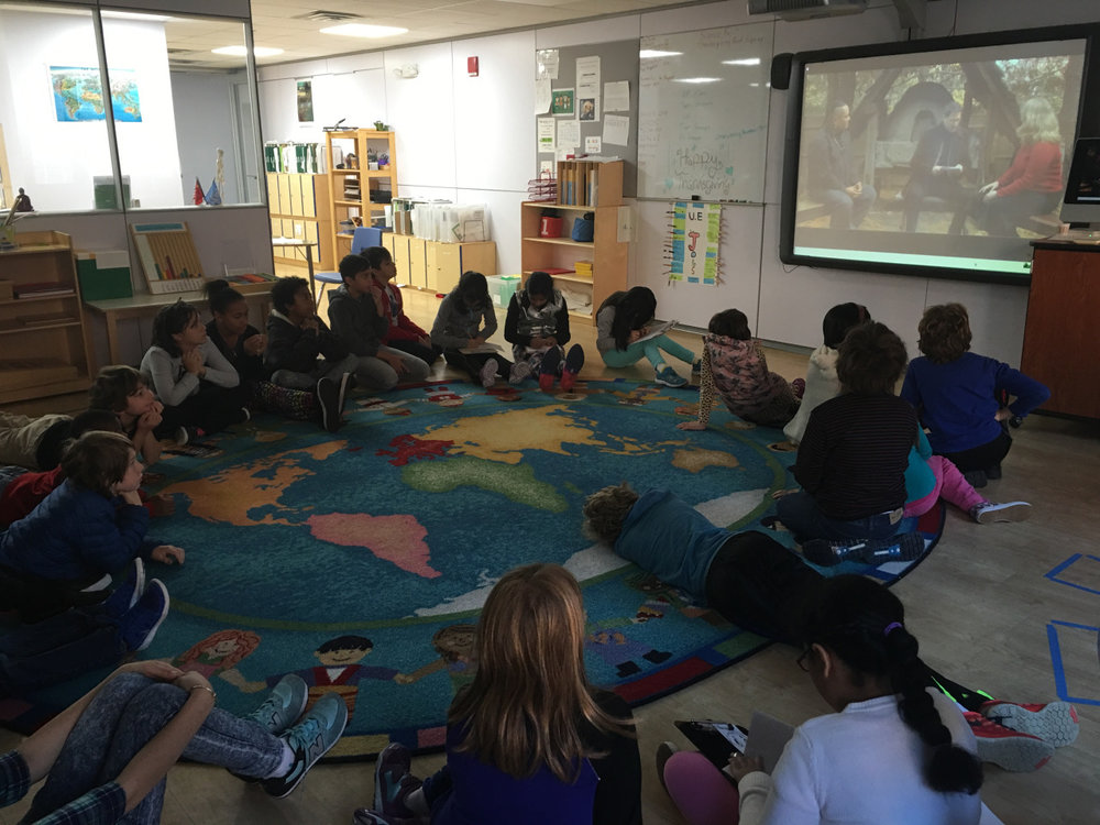 The Upper Elementary students enjoyed learning about the Wampanoag tribe and the pilgrims.