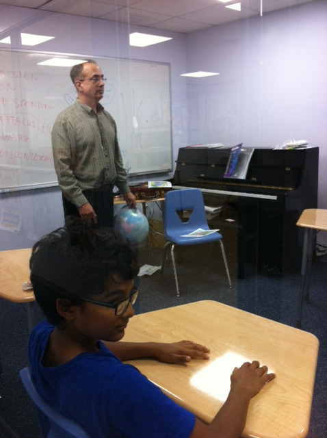 During Middle School DebateQuest, Mr. Ralph led an engaging discussion about the fall of Rome.