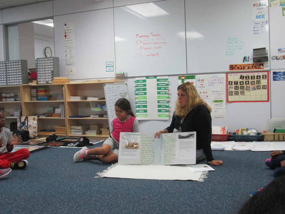 Ms. Allison and her daughter shared presentations about the Jewish holidays of Rosh Hashanah and Yom Kippur with the Lower Elementary East class.  The students enjoyed learning about the history of each holiday, their respective customs and the traditional foods associated with each holiday.
