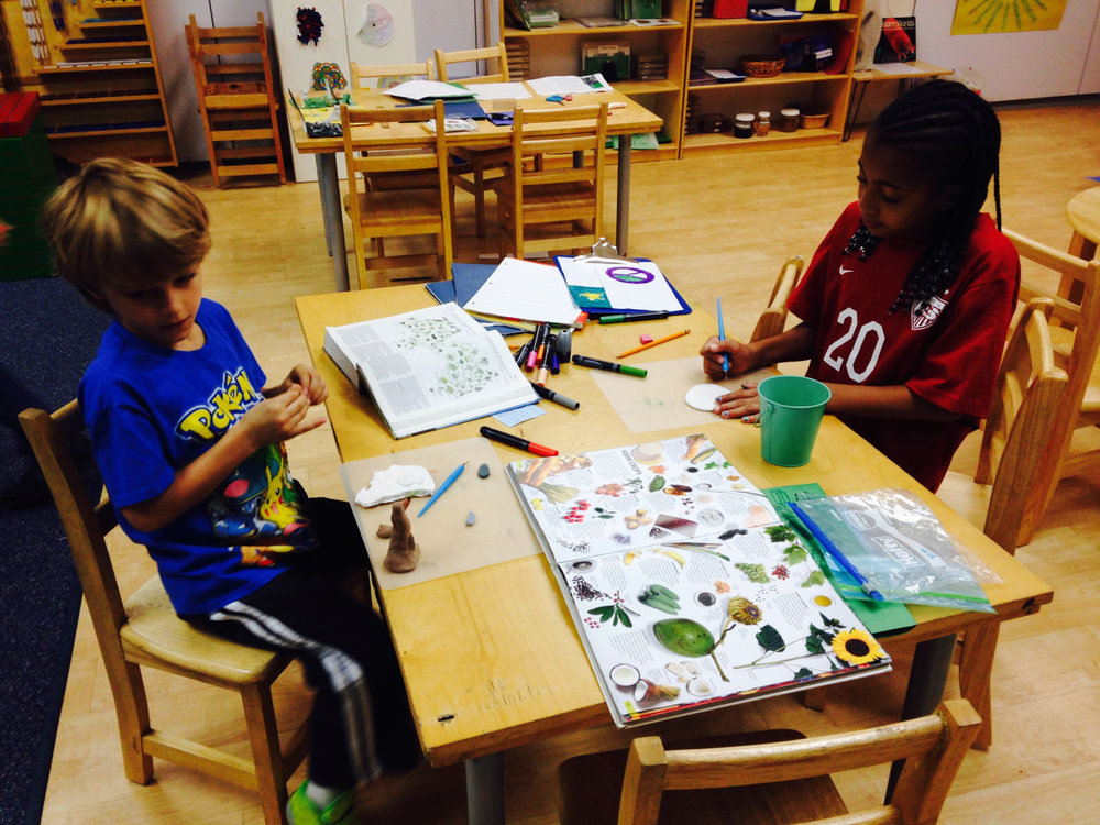 Lower Elementary West students put the finishing touches on their Australia presentations.