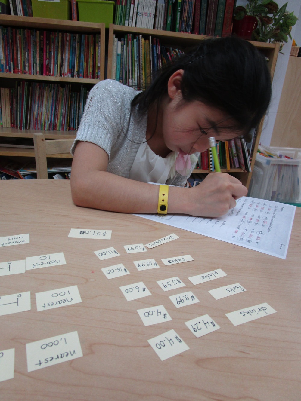 A Lower Elementary North student worked on estimating and rounding numbers.