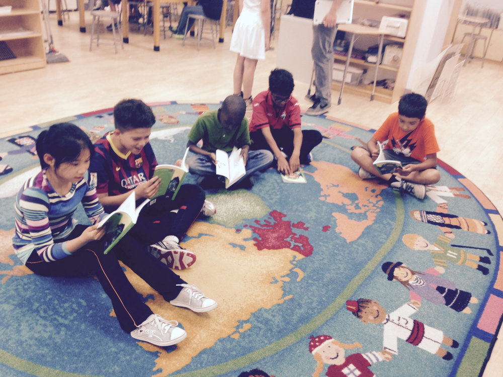 As part of their Junior Great Books studies, the Upper Elementary students read and discussed a story.
