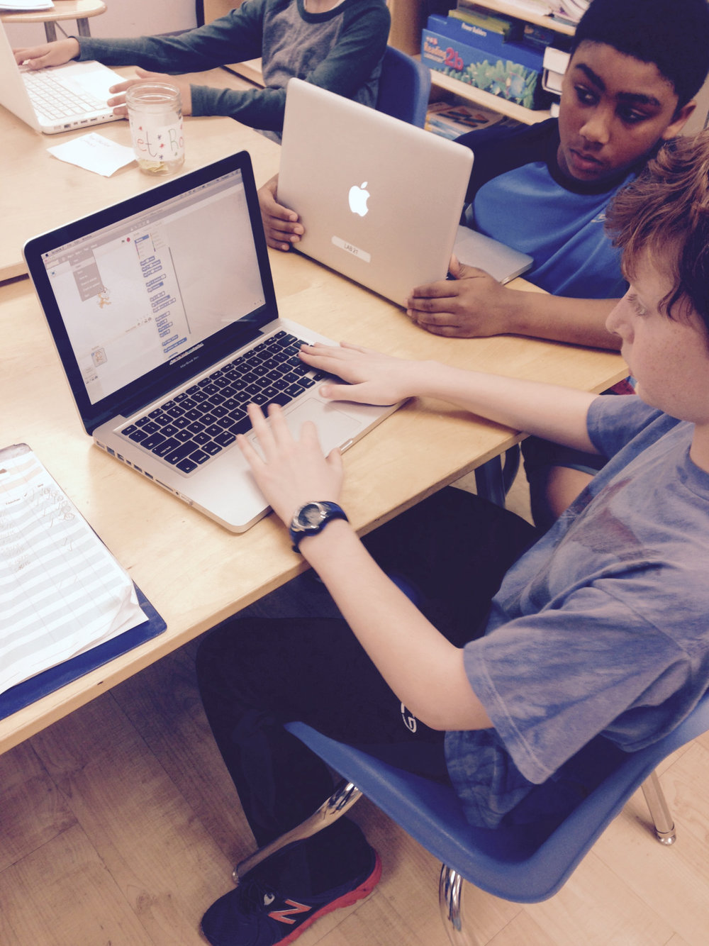 As part of their Technology studies, fifth grade Upper Elementary students finished their Scratch programming projects