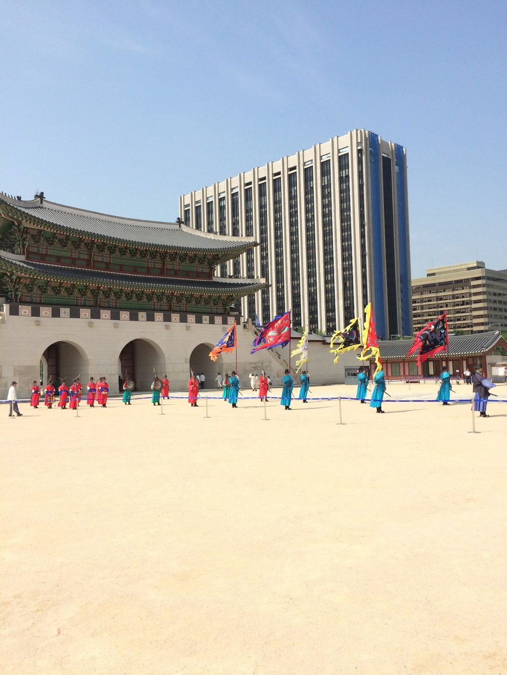 Ceremonial changing of the guard at South Korea's Gyeongbokgung Palace