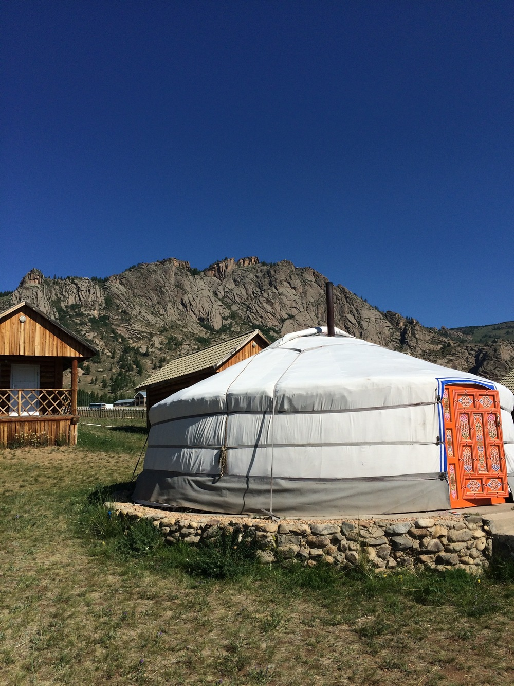 Yurts - our lodging at the Terelji National Park