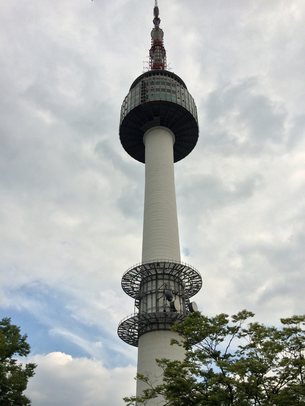 Seoul Tower! I went up to the very top to see the views .... and also had a pizza dinner :-)