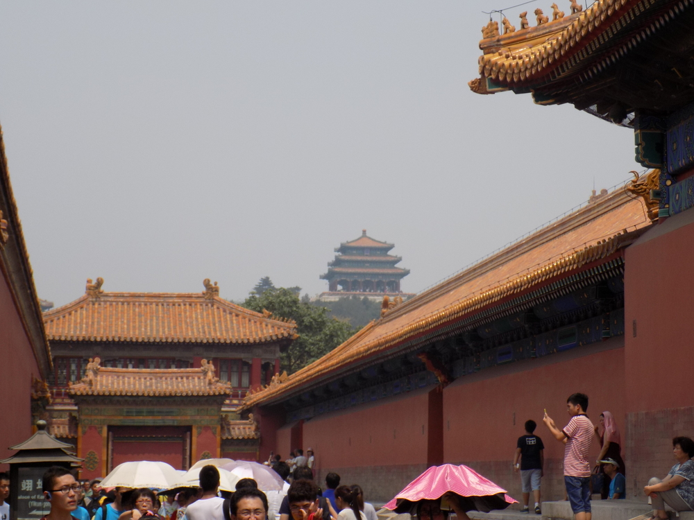 The Forbidden City is massive - we only saw a small section, but had some incredible views / perspective of the building at the top.