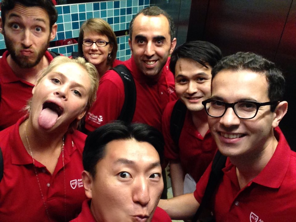 Fellows in the elevator ... need I say more?
