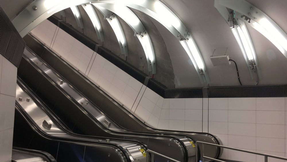 Escalator Down Into 86th Street