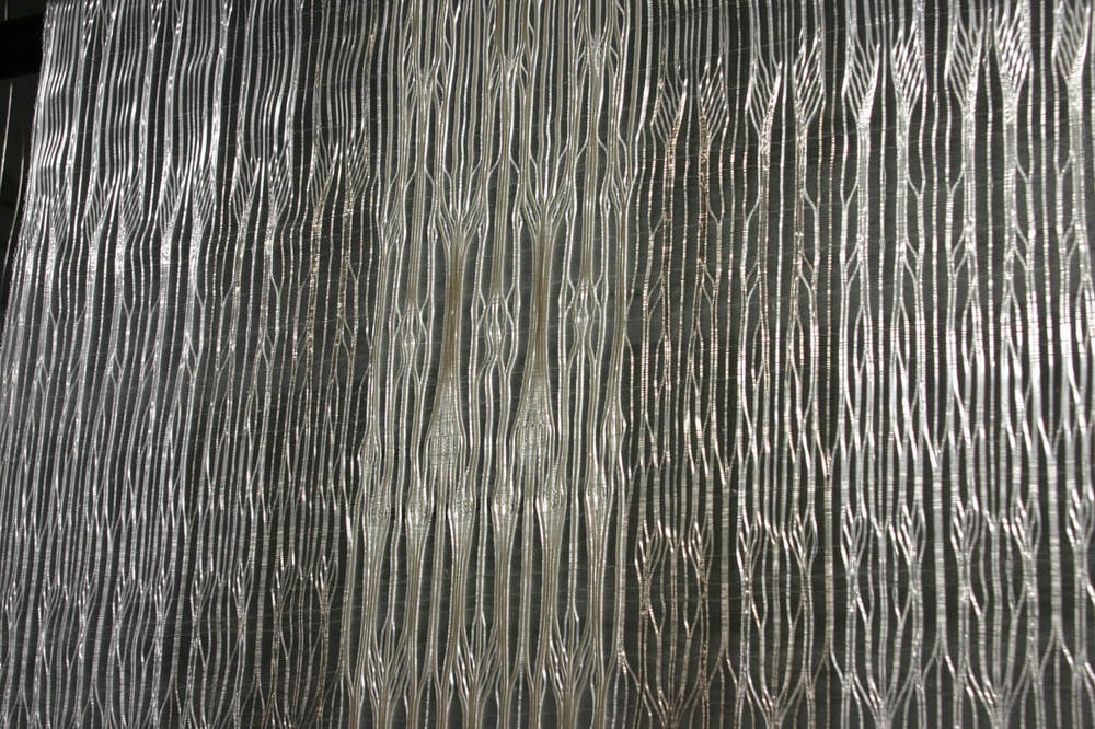 X-Ray Vault Series I; detail 2014 nylon monofilament, rayon and iridescent threads 155 x 68cm  POA