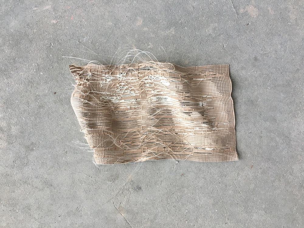 Gauze 2018 plaster, nylon monofilament and rayon
