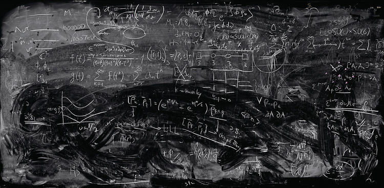 Photograph by Alejandro Guijarro; Physicist's Blackboards (Series); Stanford