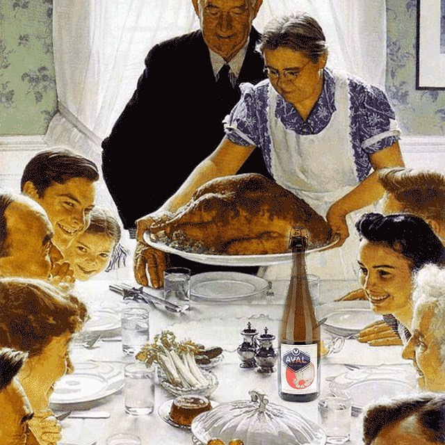 Happy Thanksgiving 🐔🍏🍎#feast #avalmycider #bretagne #normanrockwell