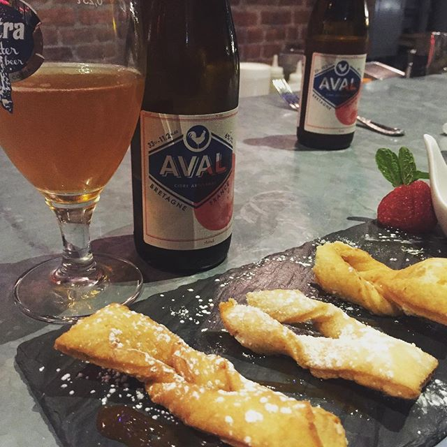 It's Mardi Gras, people. It means bugnes and cider! Get it at @ocabanon #aval #avalmycider #cider #ocabanon #mardigras