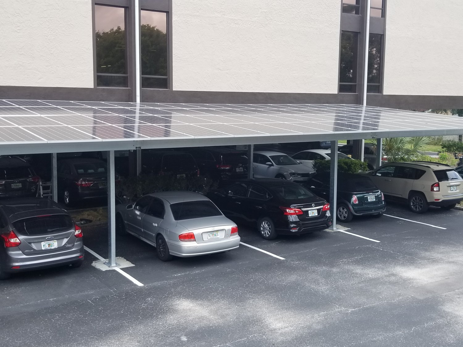 Solar Carport at Bay West Commercial Center — Solar Installers in ...