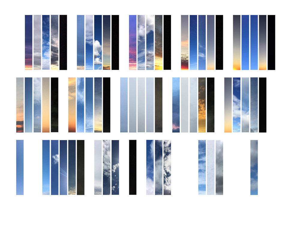 sky palettes (September 25–30, 2017: SK, NS, AUS) - inkjet print, 8 x 10
