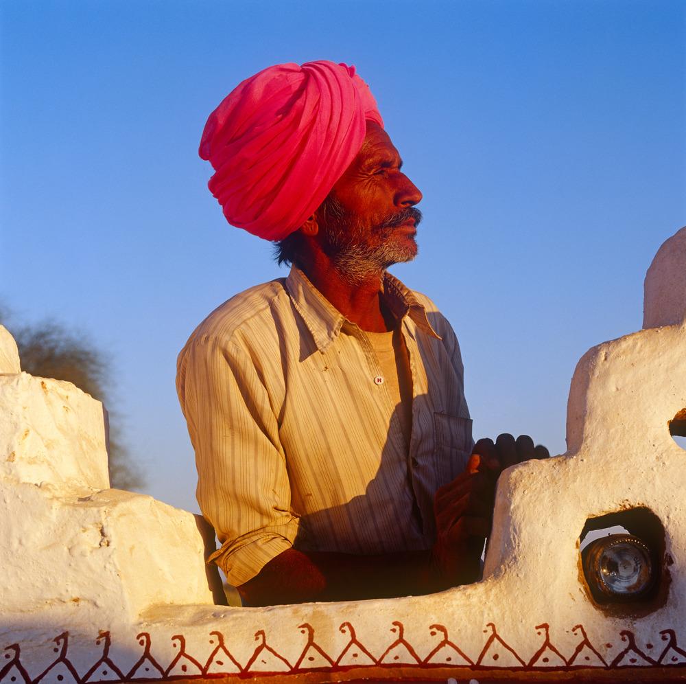 Pink Turban, Jaisalmer.