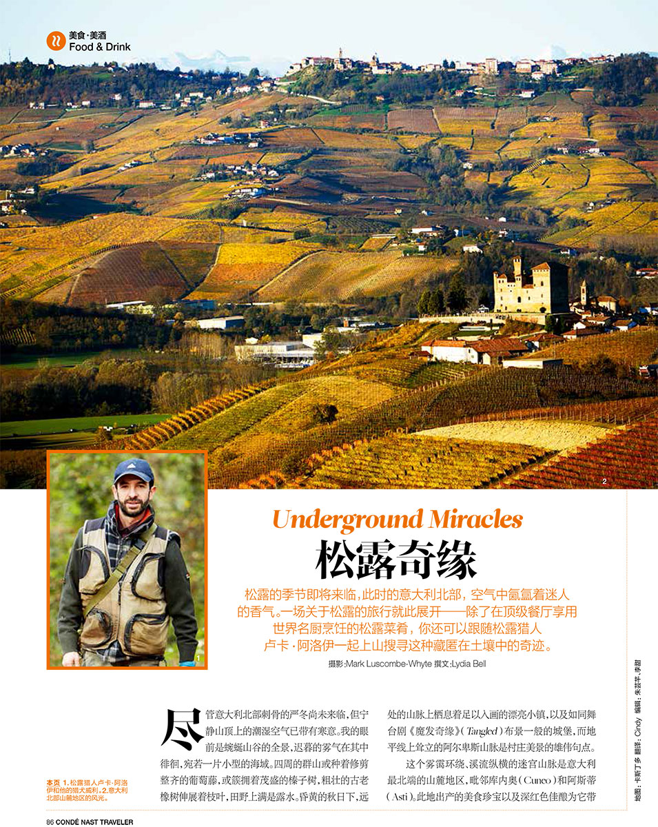 Alba Truffles, Conde Nast Traveler, China.