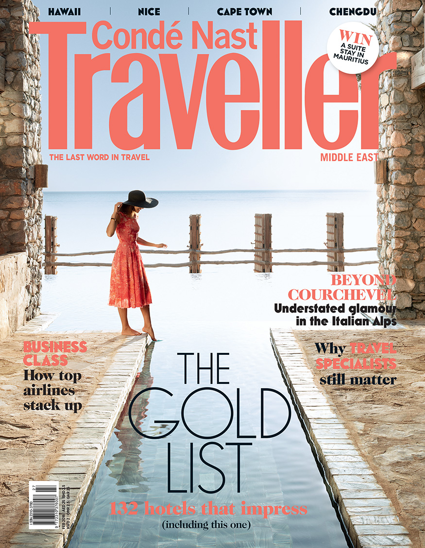 Conde Nast Traveller, Front Cover, February 2016