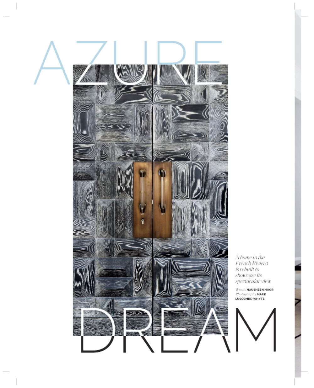 Azure Dream. Architectural Digest Middle East.