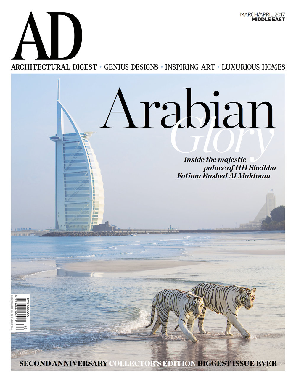 Architectural Digest Cover and Main Feature. Click view below to open PDF.