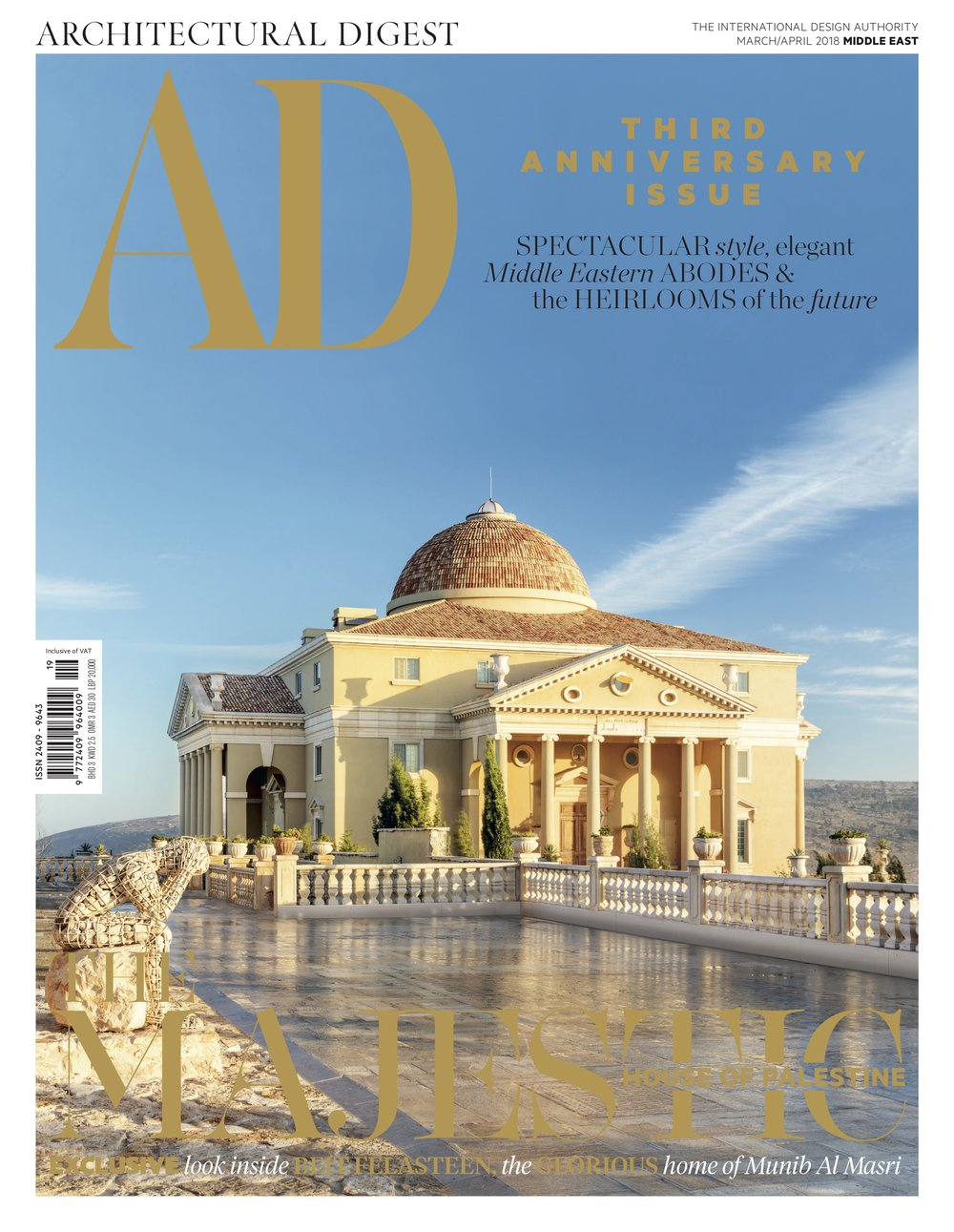 Architectural Digest , Cover and main feature. Click View below to open PDF.