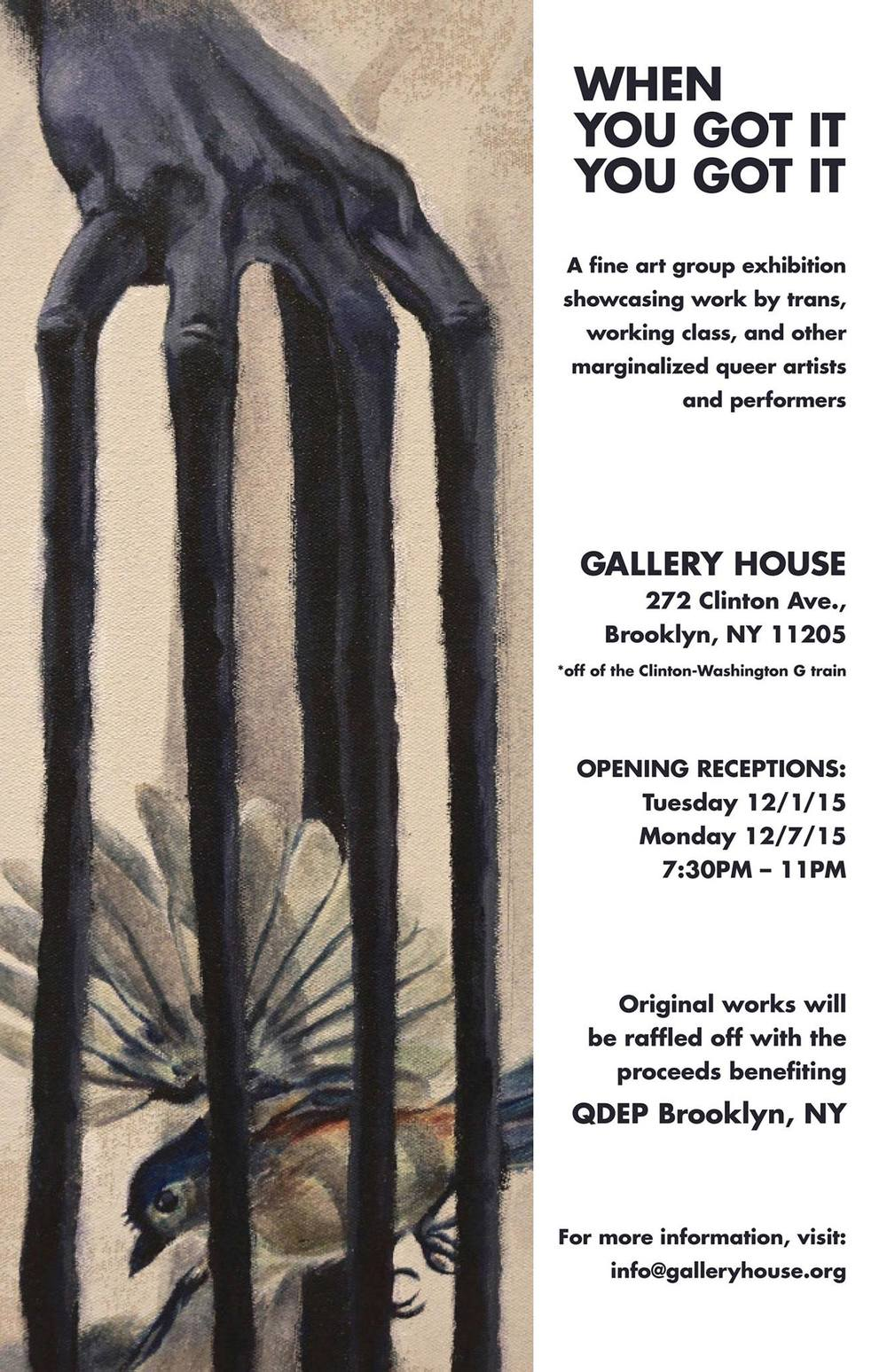 Gallery House Flyer