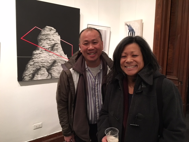 DGT Alumni Association Treasurer, Tom Wong (Pratt, Engineering '84) and Mrs. Judy Wong enjoying the exhibit.