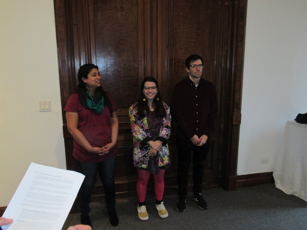 Rddhima Goylan, Laura Arike and Adam Colello