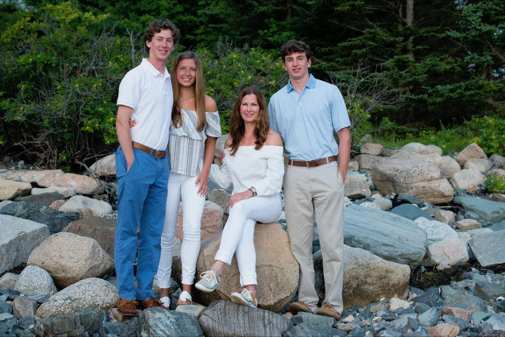 Melanie with her children Wesley, Megan and Wyatt in Maine.