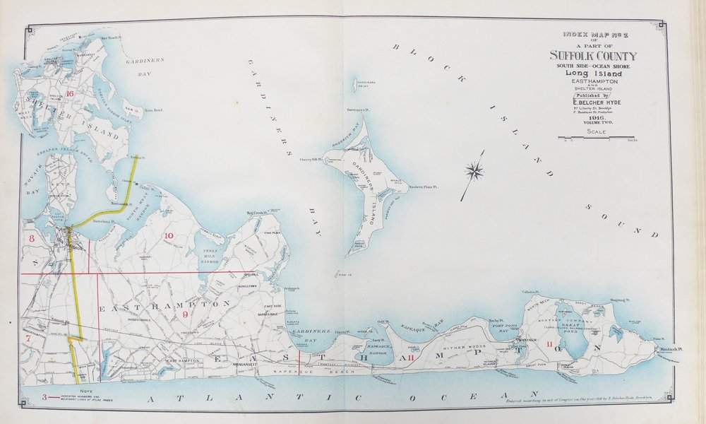 The East End of Long Island, from East Hampton to Montauk. The Beecher Map 1916.