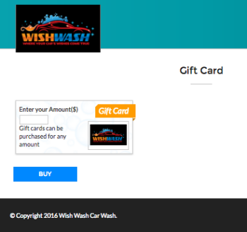 Purchase a Gift Card / Wash Book